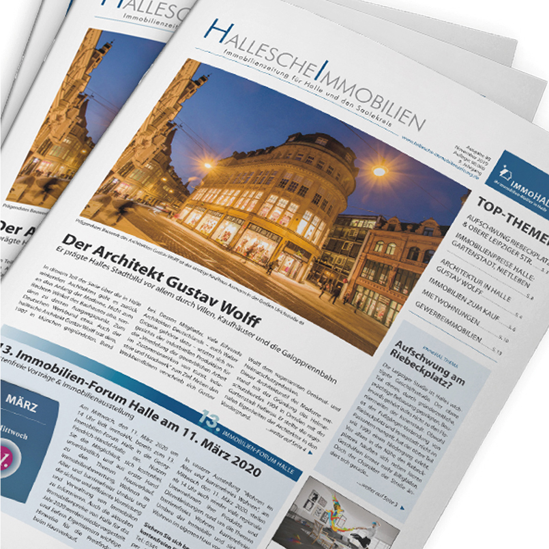 Hallesche Immobilienzeitung, Ausgabe 88 November 2019