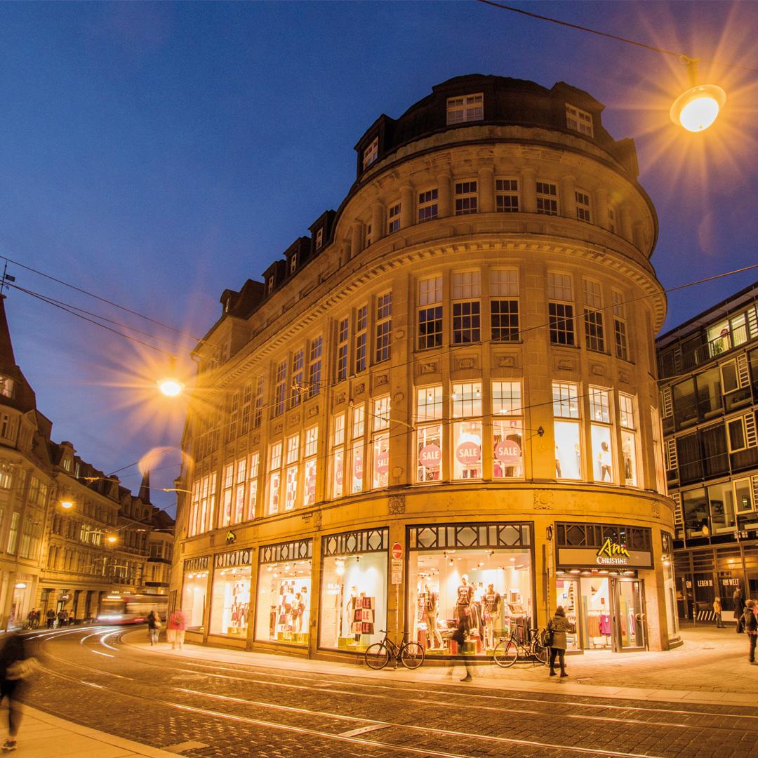 Das Kaufhaus Assmann in der Großen Ulrichstraße in Halle