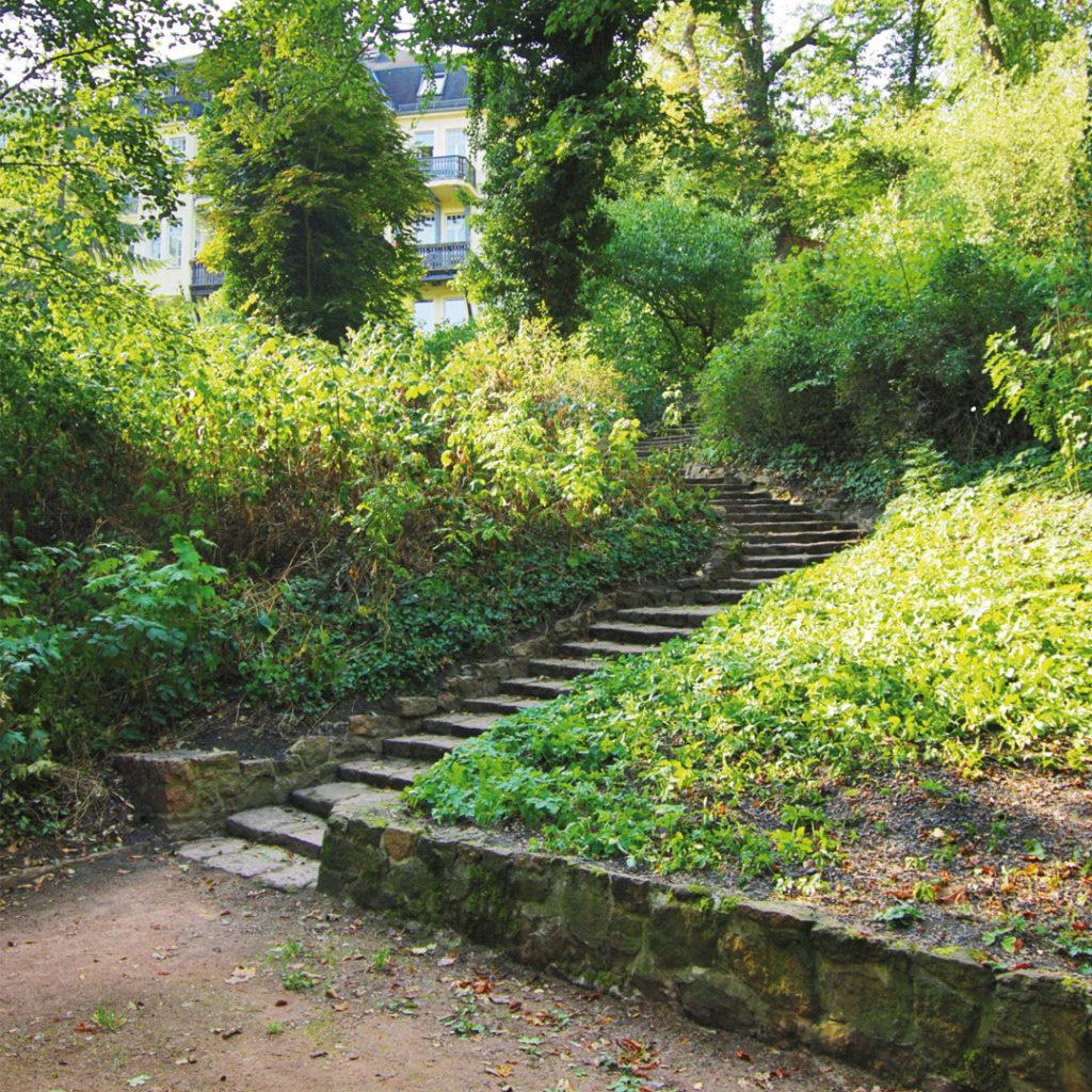 Treppenanlage in Reichardts Garten.