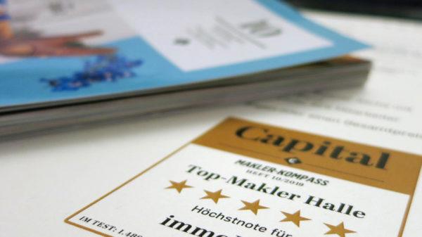 Platz 6 für immoHAL im CAPITAL Maklerkompass