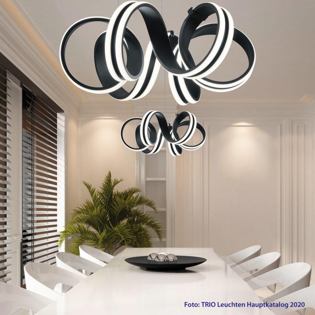 Die perfekte Wohnatmosphäre mit Licht entsteht durch den optimalen Einsatz von Hintergrundbeleuchtung, Arbeitsbeleuchtung und Akzentlicht. Mit LED-Lampen sind nahezu grenzenlose Desings und Formen möglich.