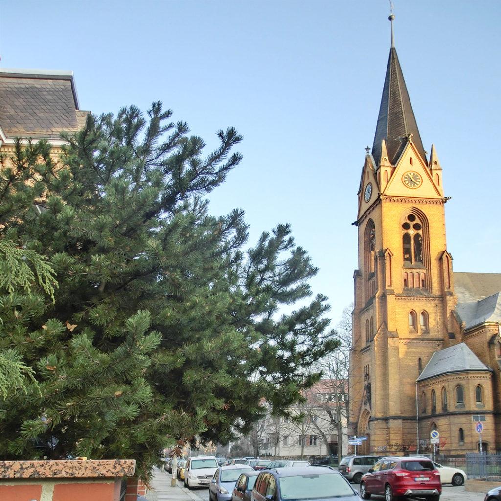 Die St. Stephanuskirche wurde ab 1968 als Büchermagazin genutzt. Heute steht sie leer.