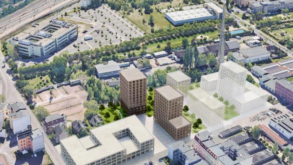So könnte ein neues Stadtviertel am Thüringer Bahnhof aussehen...