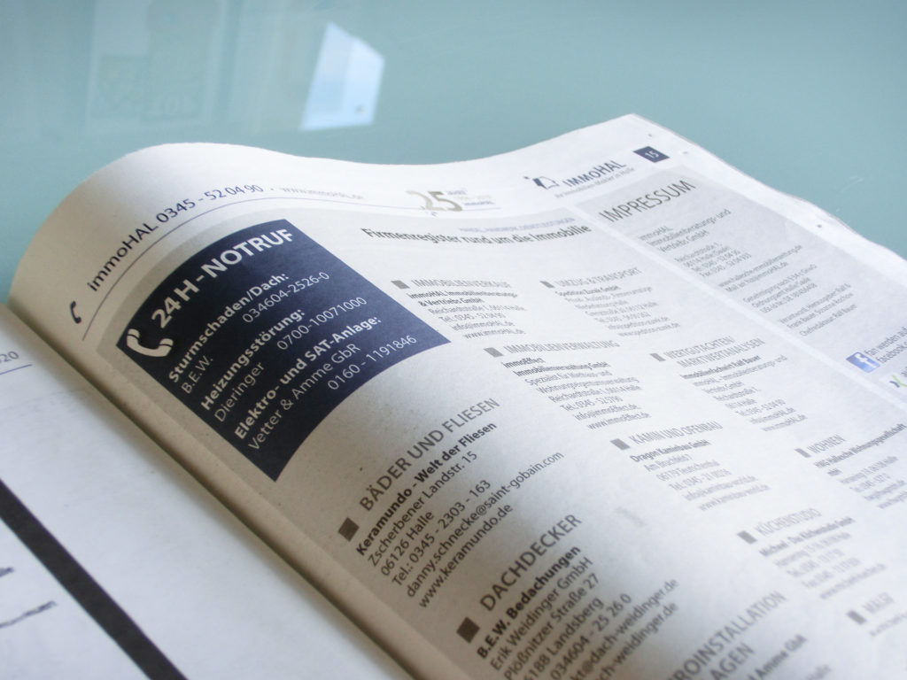 Firmenregister Hallesche Immobilienzeitung