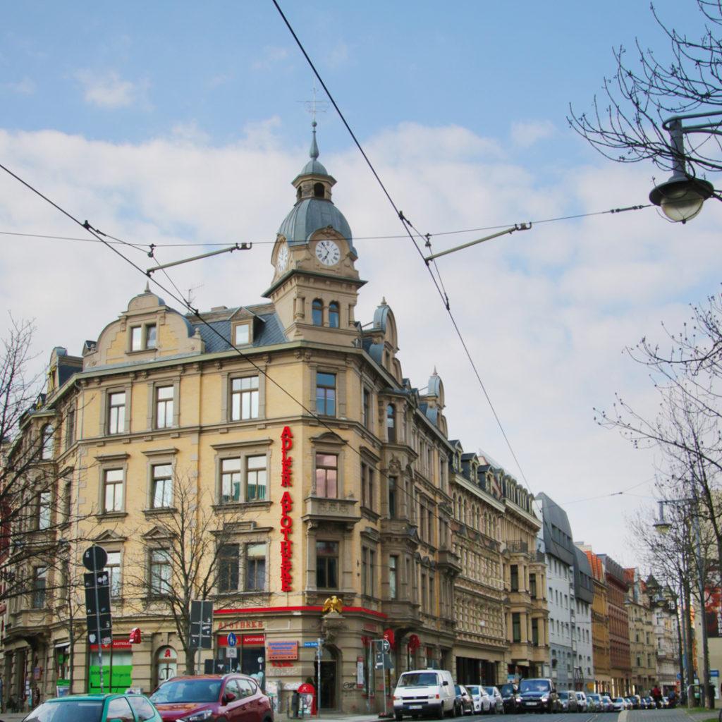 Neobarocke Formen setzte Schönemann auch im Wohn- und Geschäftshaus Geiststraße 16 ein.