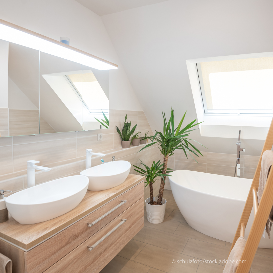 Das moderne Bad steht auf der Wunschliste der Deutschen ganz oben.