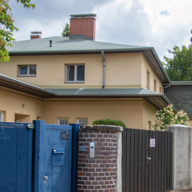 """Das """"Haus Aubin"""" in Kröllwitz - ein seltenes Beispiel für die Architektur des Neuen Bauens in Halle."""