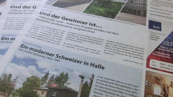 Hallesche Immobilien Zeitung, Ausgabe Juni