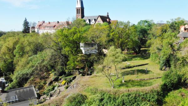 Der Felsengarten in Halle am Ochsenberg in Kröllwitz.