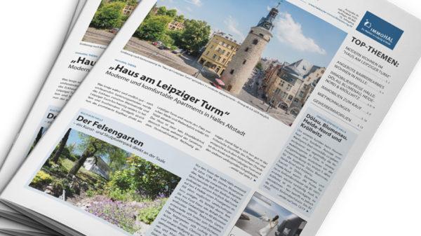 Doppelausgabe Juli-August der Halleschen Immobilienzeitung.