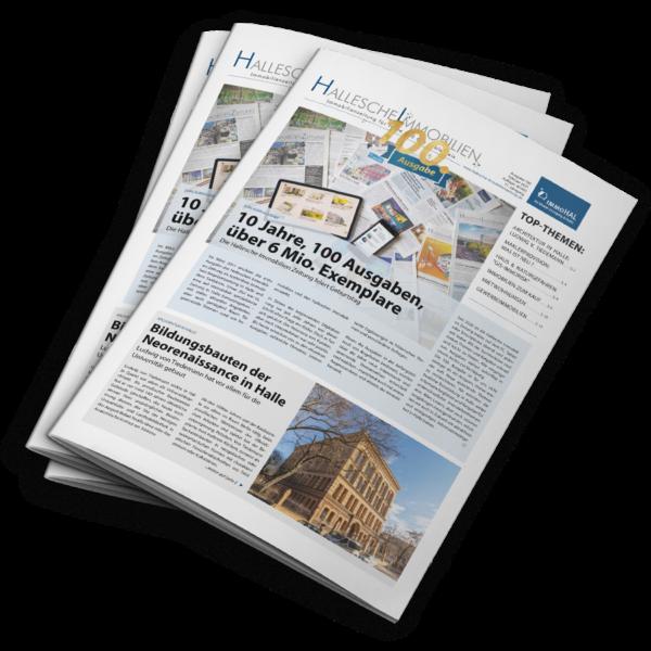 Die Hallesche Immobilienzeitung Ausgabe Februar 2021 ist eine Jubiläumsausgabe. Wir geben eine Rückblick und Ausblick zu 10 Jahren und 100 Ausgaben Hallesche Immobilienzeitung.